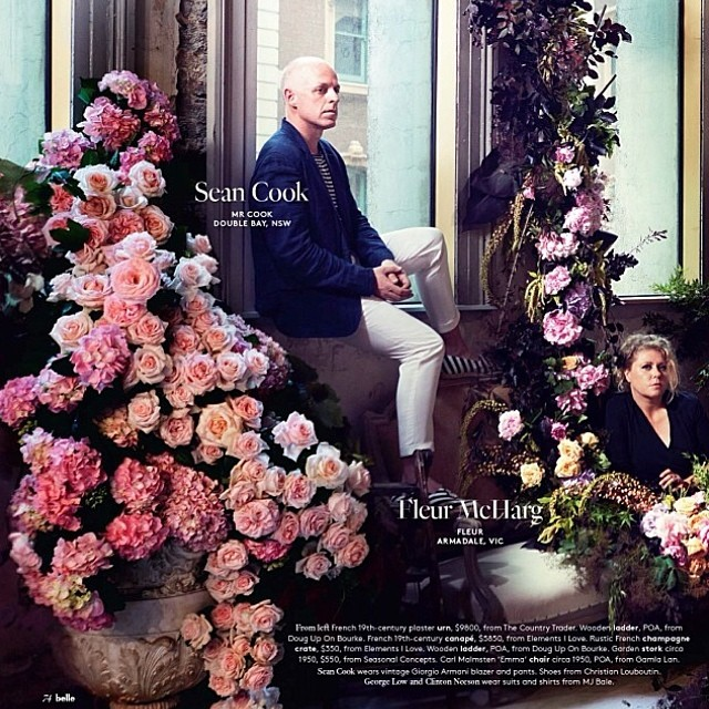Our super talented florist Mr Cook as featured in Belle Magazine. Congrats Sean so gorgeous xx