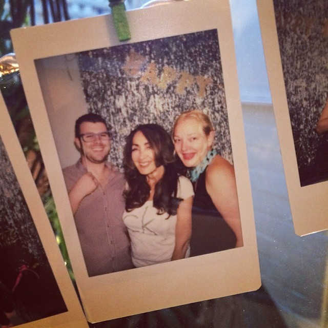 Party polaroid with Ros Reines at #laboutique10 looking glam after the Henry treatment :) (at La Boutique)