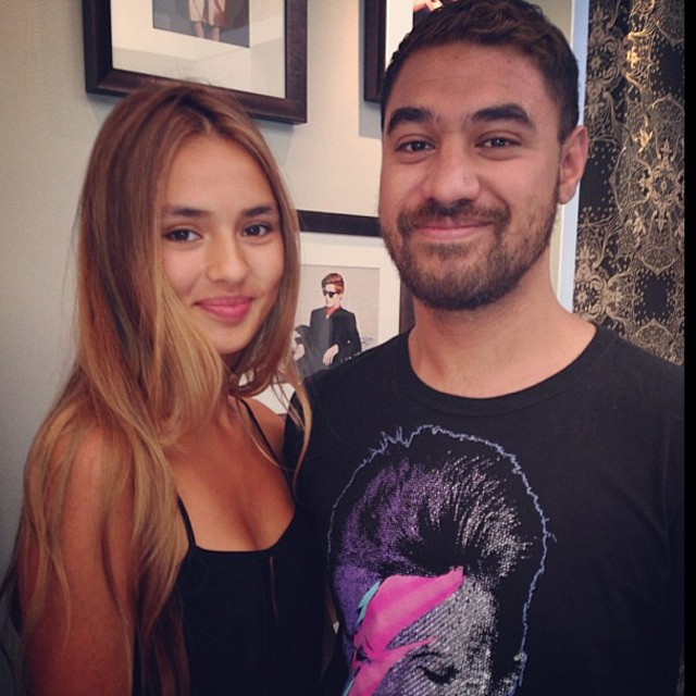 #regram when the #gorgeous @lydiasimonis came to @laboutiquehair and saw @dantastic1983 #magic #happened #love #beautiful #caramel #blonde   (at La Boutique)