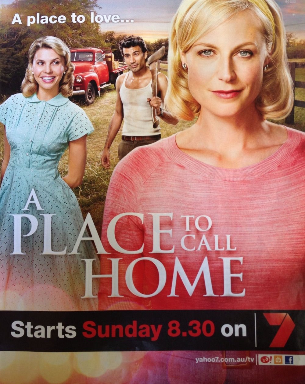 Belinda and the colourists' amazing colours on the actors in A Place Called Home.