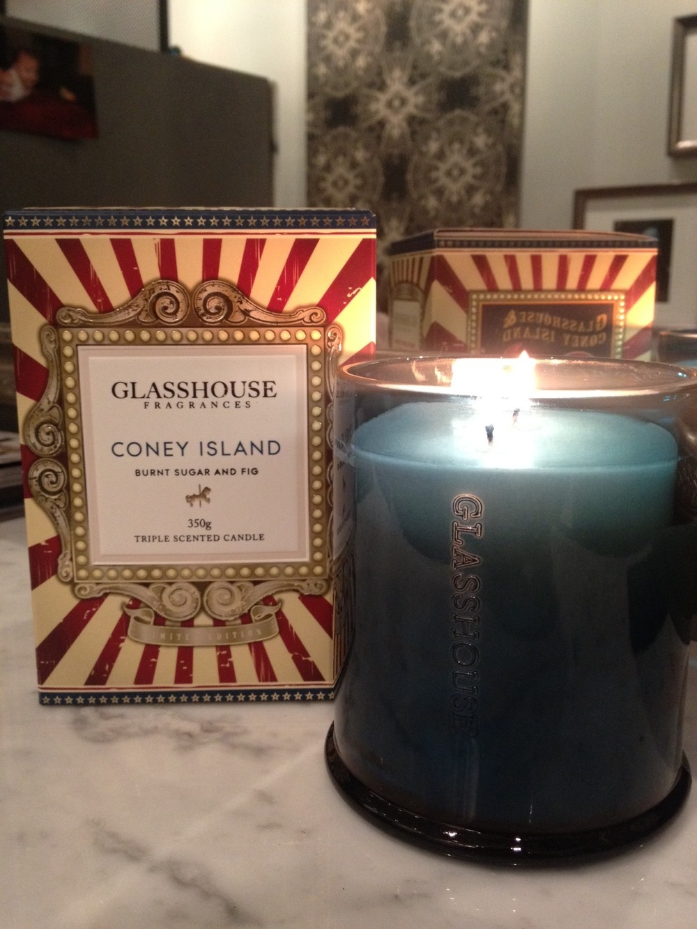 Check out the gorgeous new Glasshouse Candle scents next time you visit La Boutique! We are in love with the new limited edition 'Coney Island', with scents of burnt sugar and fig it adds a touch of yummy playfulness to the air! And of course you can't forget our old favourite 'Caracas', with a scent of frangipani.