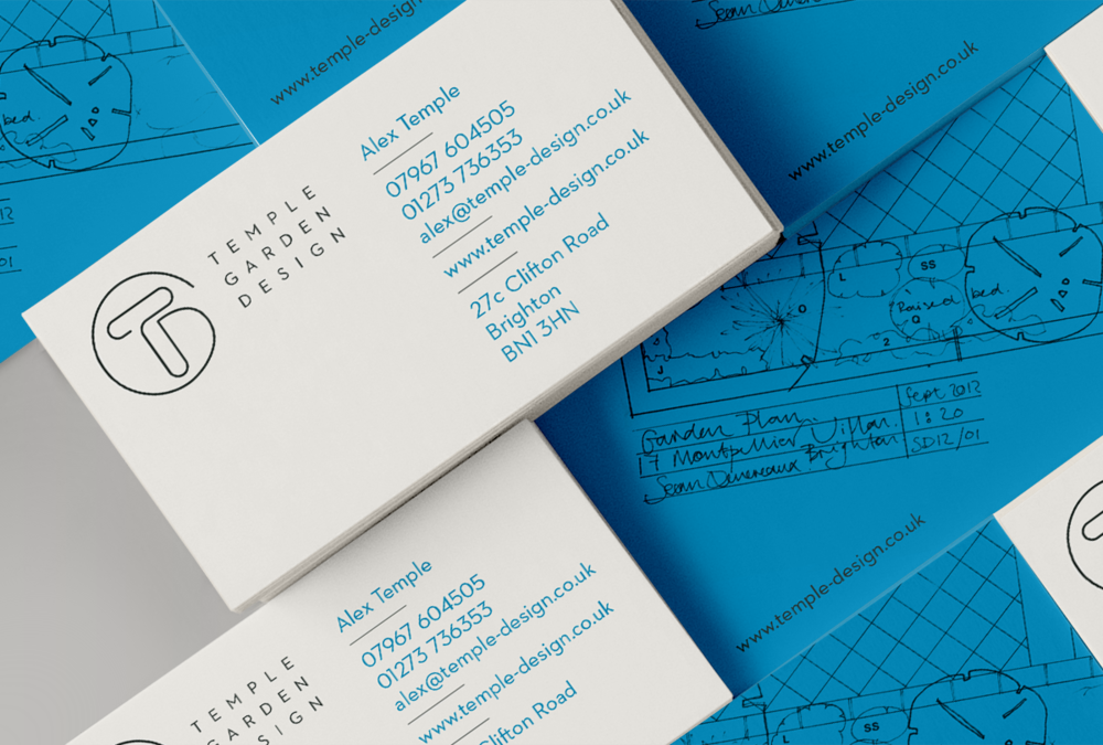 Temple Garden business card designs by Tacon Design