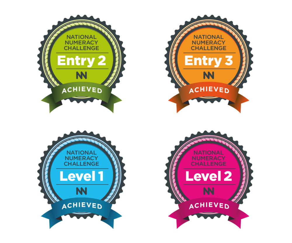 National Numeracy Challenge award designs