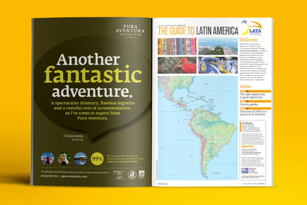 Press advertising design for Pura Adventura by Tacon Design
