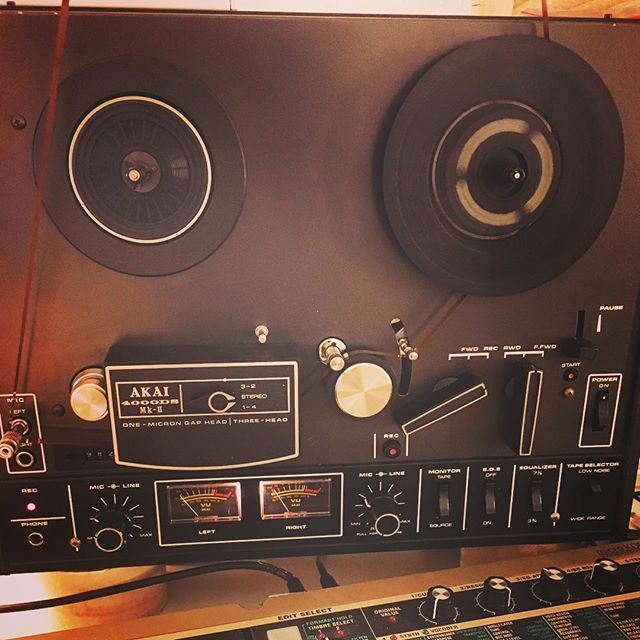 Where the heck is the #tape going? #tapeloop #experiments with #Akai #4000ds.  #mkii #lovver #lovverband #analogue