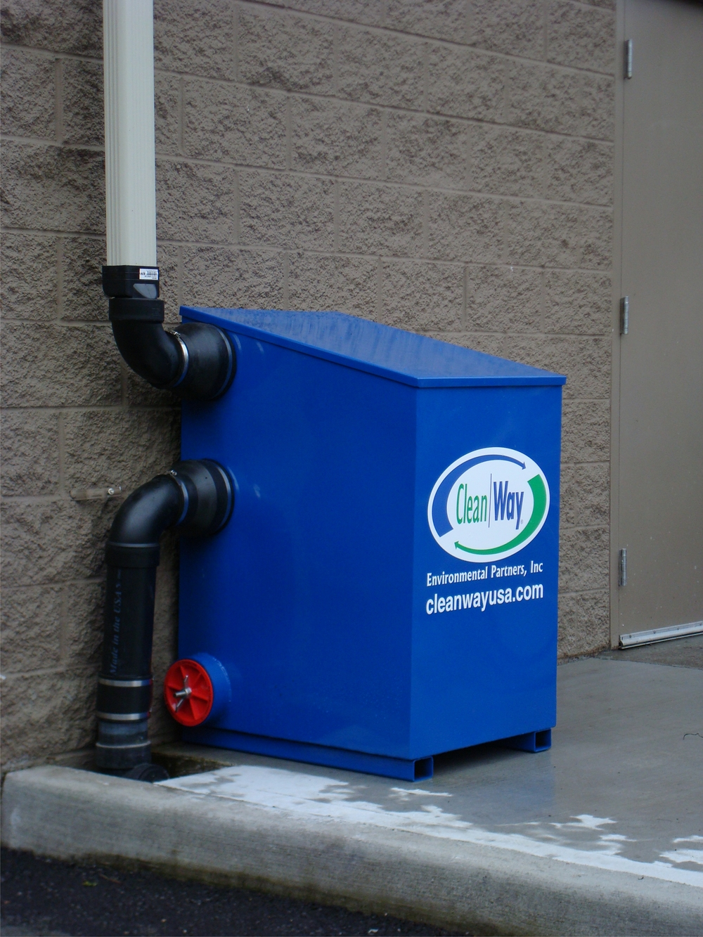 Downspout Filtration effectively captures rooftop runoff in a small footprint