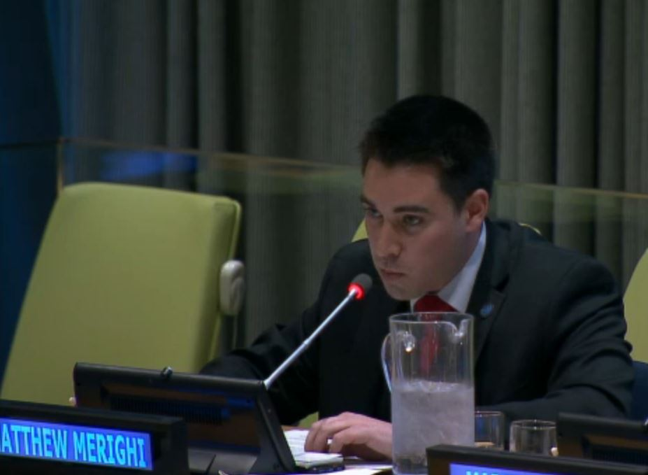 CEO Matthew Merighi Briefs Blue Water Metrics at the United Nations - Click picture for link. Comments begin at 24:45