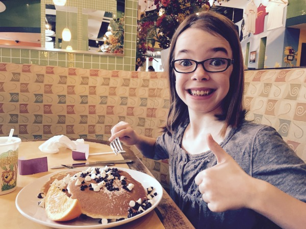 "Tess asked the waitress, ""Which is bigger: the pancakes or the waffles? Pancakes? Okay, I'll take that."""