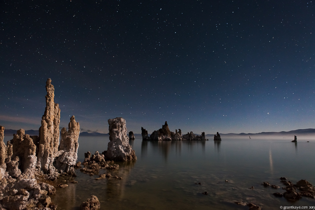 Mono Lake Tufa under moonlight