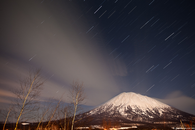 Star Trails Above Mt. Yotei, Japan