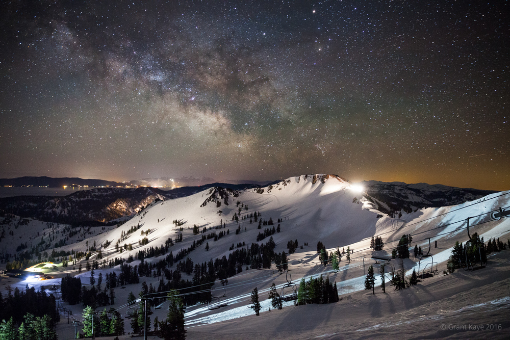 I used both apps to plan this photo of the center of the galaxy rising above Squaw Valley