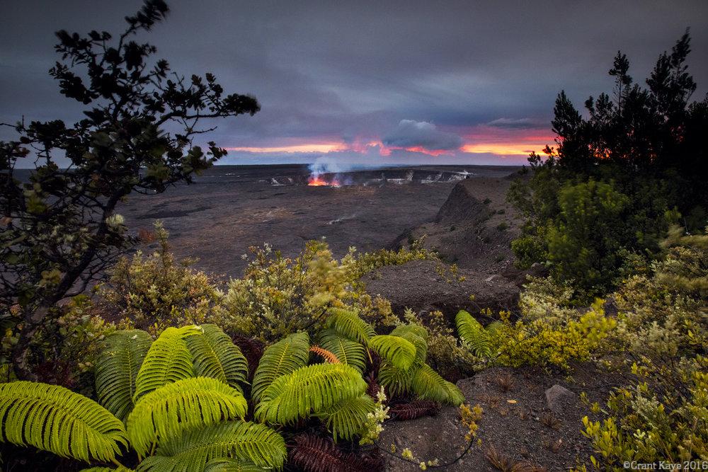 Halema`uma`u Crater, Kilauea Volcano