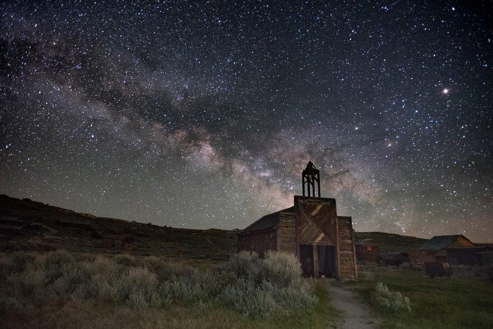 Image taken by Marcy Pinetti - a former participant in a Bodie Night Photogrpahy Workshops in 2016.