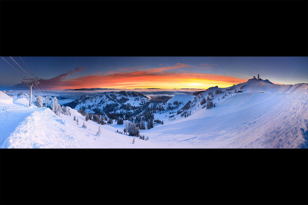 Sunrise from Alpine Meadows Summit Chair, 2017