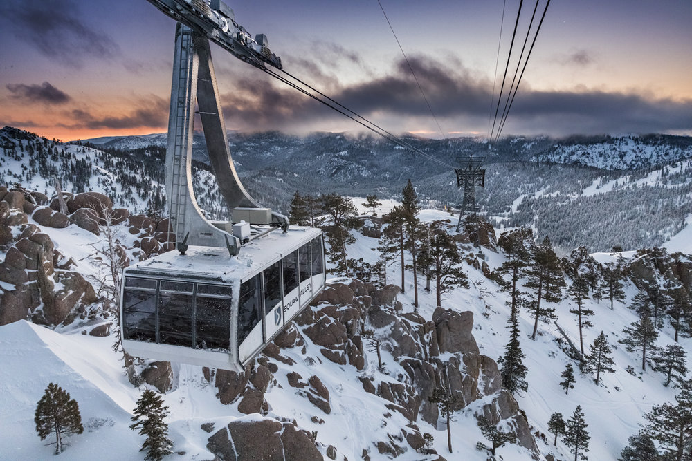 Squaw Valley Aerial Tram at Sunrise
