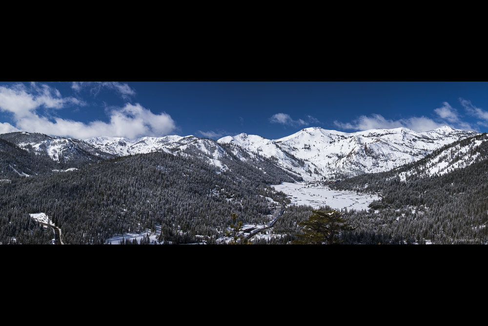 Squaw Valley and Alpine Meadows from Painted Rock