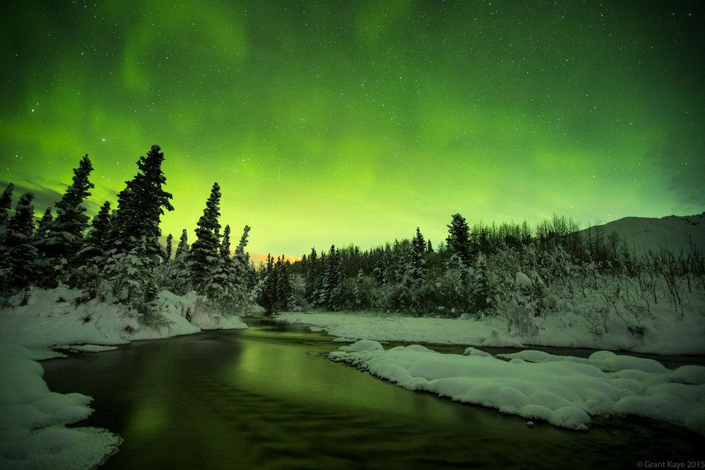 Aurora near Black Rapids