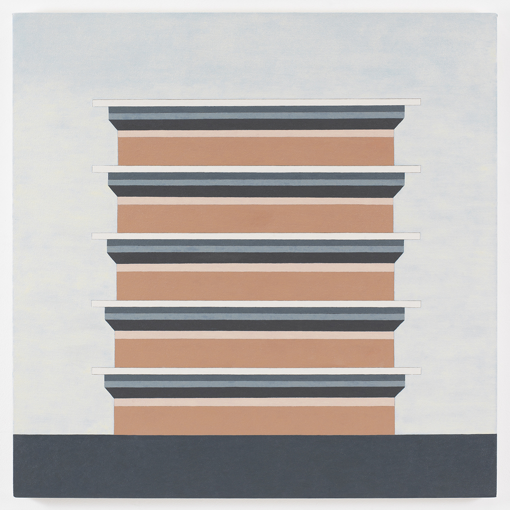 Stack N1, 2011, Oil on canvas, 38 x 38 inches