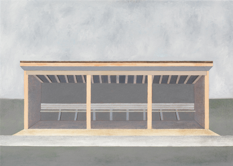 Post/Beam N1, 2006, Oil on canvas, 20 x 28 inches