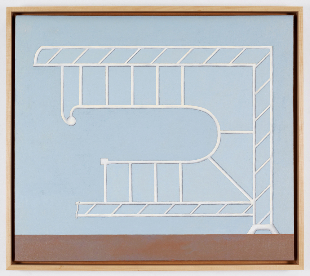 Post/Beam N2, 2011, Oil on linen, 28 x 32 inches