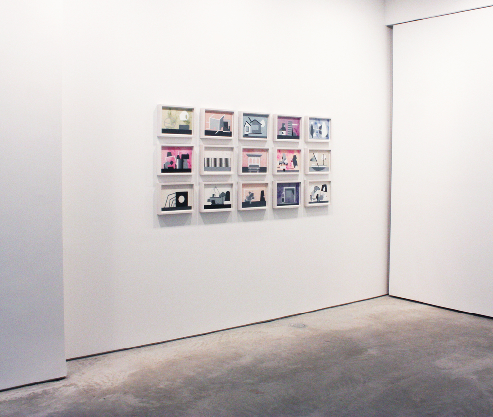 Installation view, Fifteen Paintings on Paper, 2008-2009