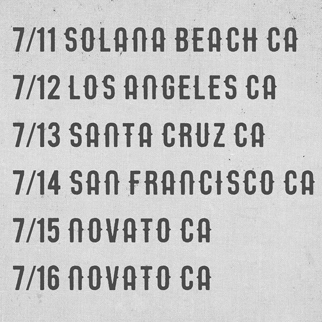 In #California this week supporting @bob_schneider_music  @bellyuptavern @thetroubadour @moesalley @theindependentsf @hopmonktavern @kcturnerpresents