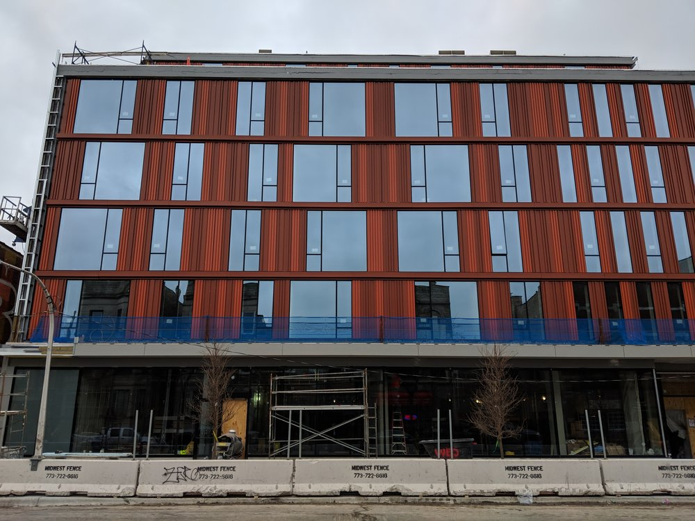 South elevation of new Taylor St. Library (photo by George Guarino)