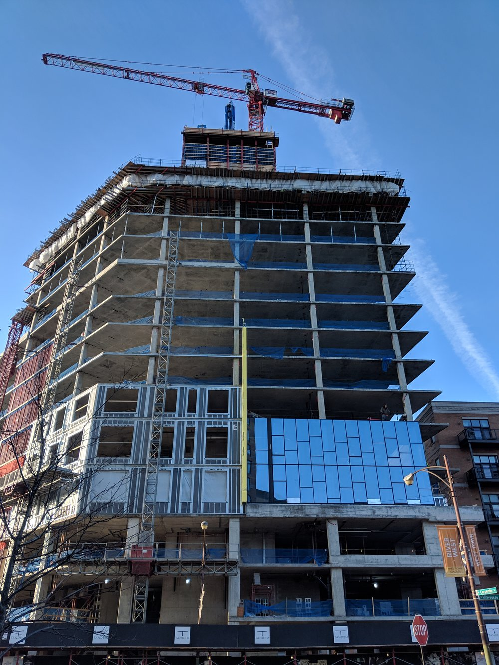 Cladding going up (taken 12/11/18 by George Guarino)