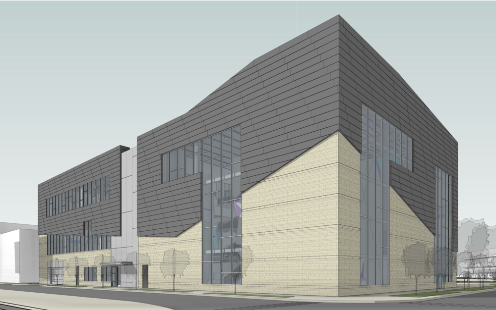 Proposed retail/commercial building at 1460 N Dayton