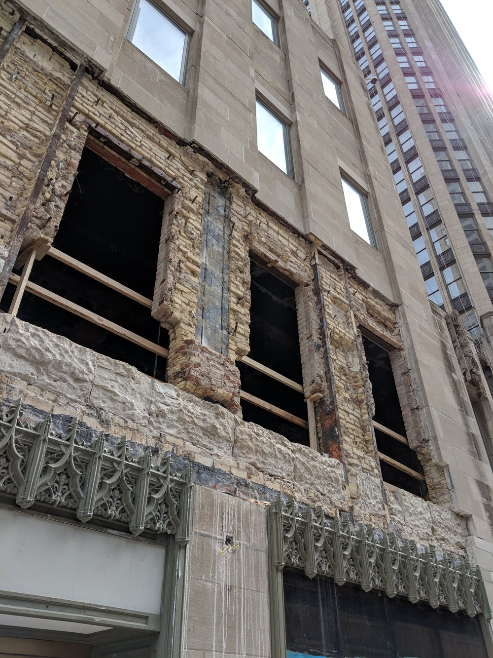 Tribune Tower façade renovation and restoration