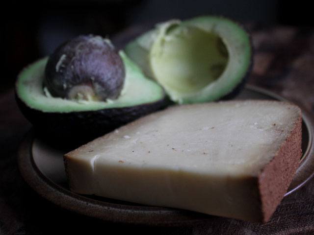 The key ingredient to smoke guacamole is Smoked Gouda Cheese