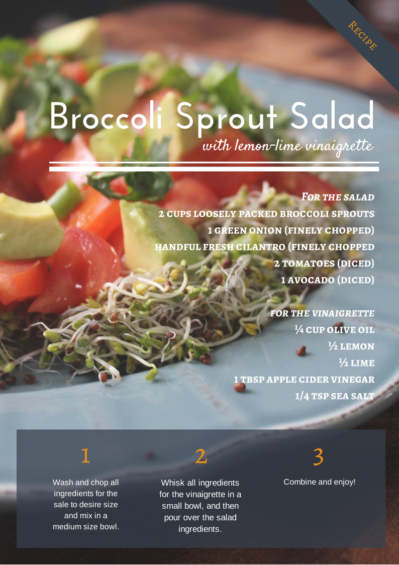 Broccoli Sprout Salad Food Savvy
