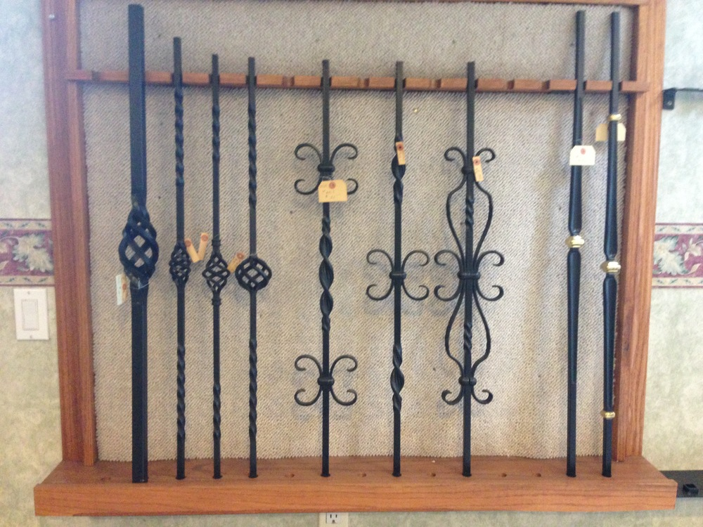 Small sample of pickets in our showroom