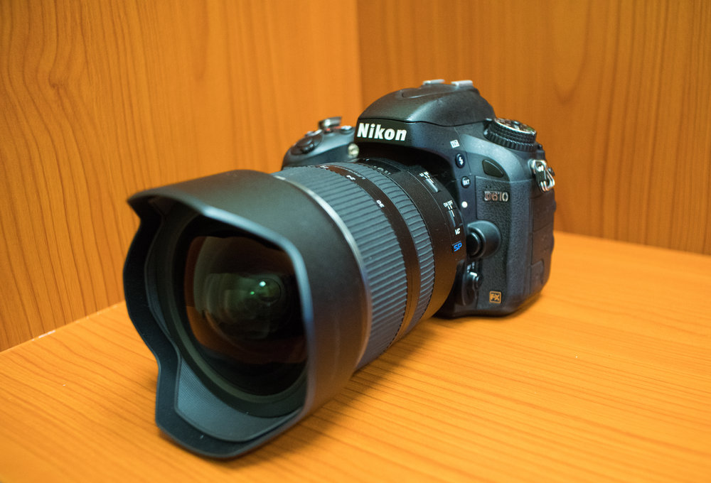 Tamron SP 15-30mm f/2.8 Di VC USD lens mounted on a Nikon D610.