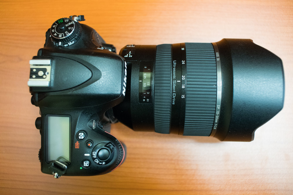 Tamron SP 15-30mm f/2.8 Di VC USD lens mounted on the Nikon D610.