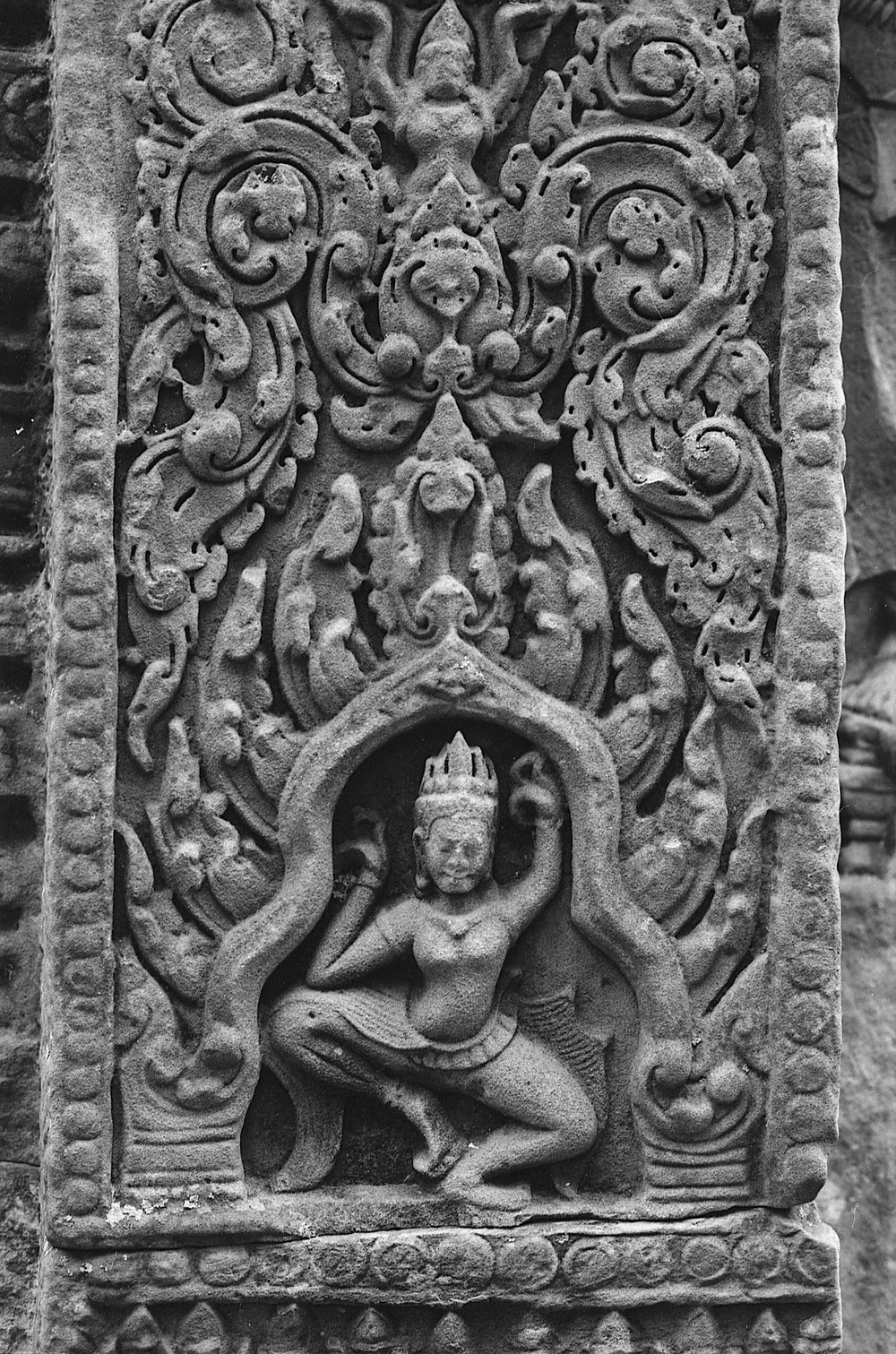 Shot on Fuji Acros 100 pushed two stops. Taken in Angkor Wat, Cambodia.