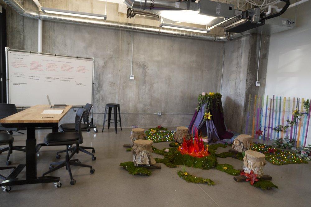 Interactive Campsite Installation - UX Research & Design   Fabrication   Programming