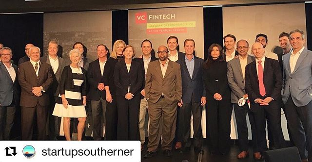 #Repost @startupsoutherner (@get_repost) ・・・ Congratulations to the 2017 @vcfintech cohort. #StartupYall 📸: @fis_global
