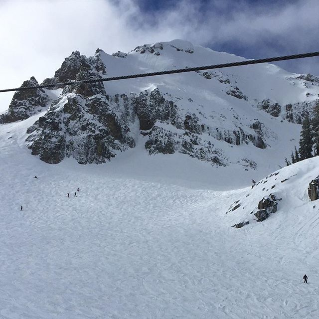 Unreal terrain @squawalpine Squaw Valley is the real deal. Awesome day with @beesonar and @mjsinclair02