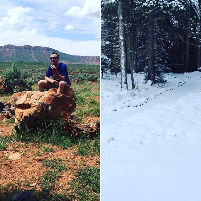 Welp, that didn't last long. @breckvelo #maydaymayday! #snowagain #stillskiseason