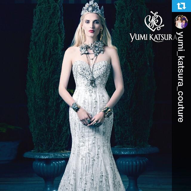 FW15 in Yumi Katsura Couture ad campaign, BRIDES Magazine