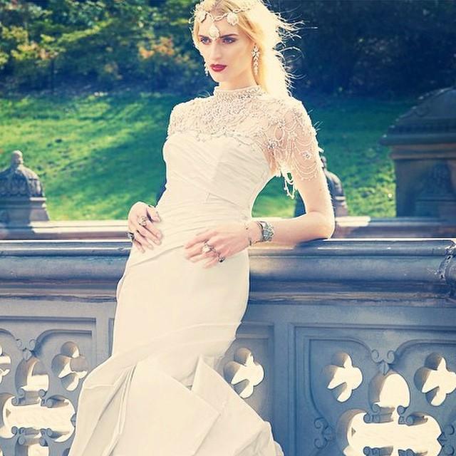 SS15 in Yumi Katsura Couture ad campaign, BRIDES Magazine