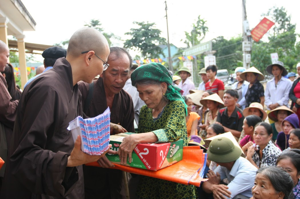 Providing humanitarian relief in Vietnam and Africa