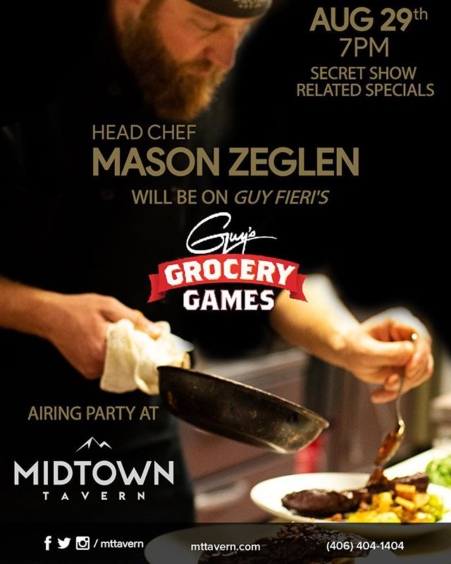 Our head chef is going to be on TV! On August 29th at 7pm, he will be on Guy Fieri's Grocery Games. We will be hosting an airing party for him here at Midtown, and will have secret specials related to the show. Go over to our Facebook page to check out the event! #mttavern #headchefsatvstar