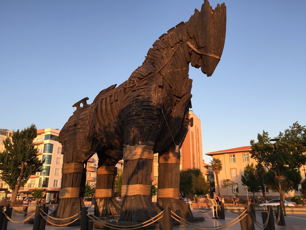 The wooden horse from the movie Troy