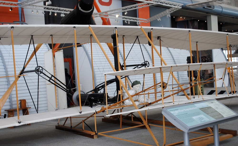 Wright Flyer. The world's first powered airplane
