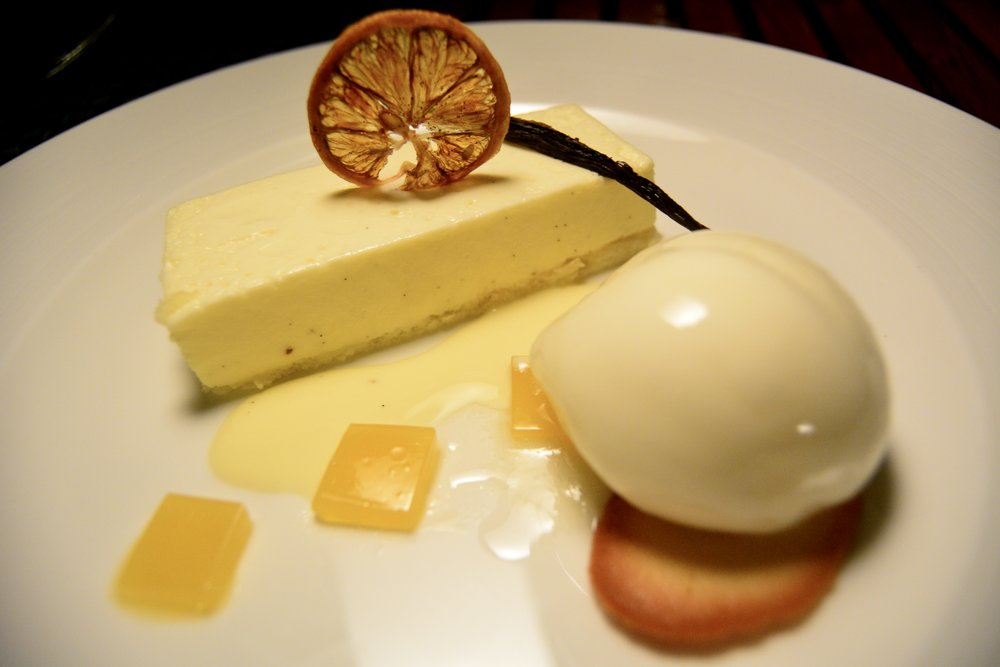 Vanilla Parfait with Lemon Sorbet (Shangri-La Muscat)