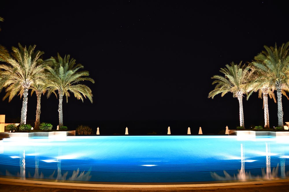 Al Husn - Pool at Night (Shangri-La Muscat)