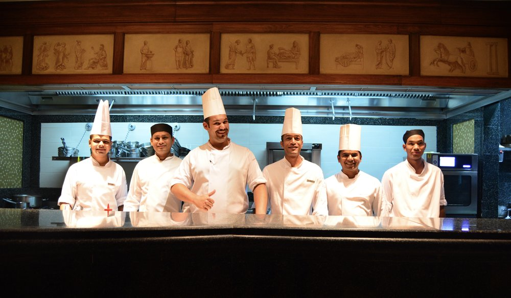 Executive Chef Enrico Degani and his team