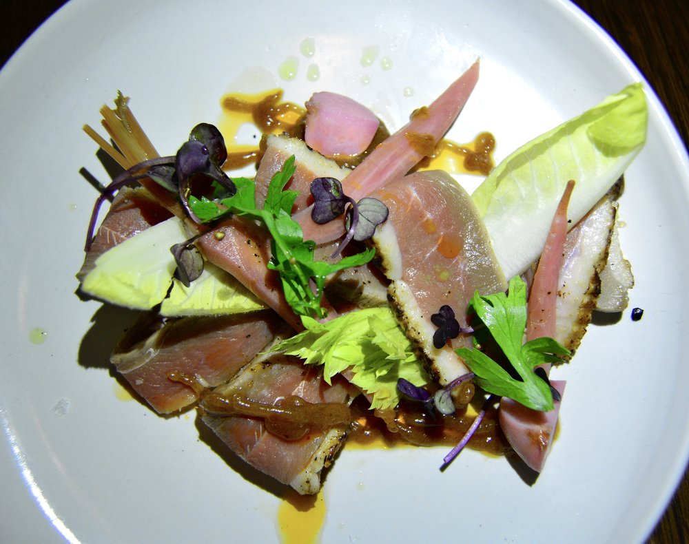 Smoked duck breast with house pickles, tamarind and spiced nuts  (Alila Jabal Akhdar)